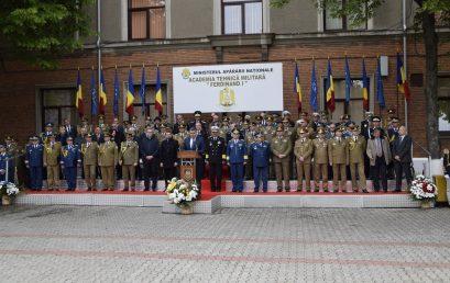 70 de ani de la înființare – Ceremonia de decorare a drapelului Academiei Tehnice Militare și dezvelirea bustului regelui Ferdinand